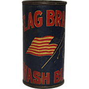 Flag Brand Wash Blue Container