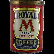 "Royal ""M"" Brand Coffee Tin"