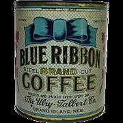 Blue Ribbon Brand Coffee Tin