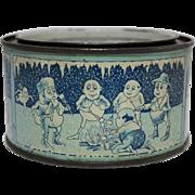 Rare Small 4 oz Snowdrop Marshmallow Tin