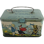 "Tindeco Mother Goose ""Nursery Candies"" Lunch Pail"