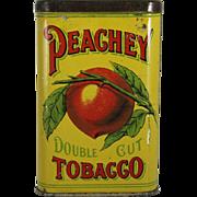"Vintage ""Peachey"" Tobacco Pocket Tin."