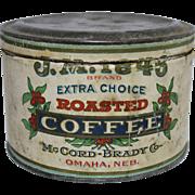 "J.M. ""1846"" Roasted Coffee Tin"