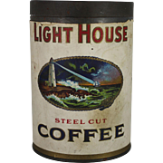 Vintage Light House Coffee Can