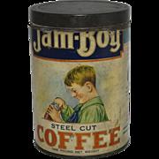 Vintage Jam-Boy Coffee Tin