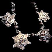 SALE Vintage Cini Sterling Dangling Pendant Necklace! Cini Peruzzi!