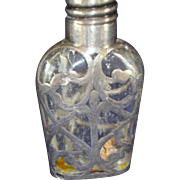 Exquisite Silver Overlay Perfume Bottle