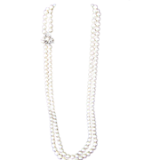 Vintage Double Strand Simulated Pearls
