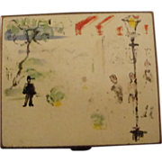 Vintage French Street Scene Compact