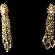 Shimmering Vintage Clear Rhinestone Waterfall Earrings