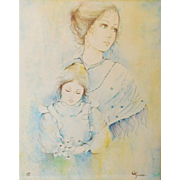 SALE Carol Paolillo Portrait Drawing Limited Edition Lithograph 232/300
