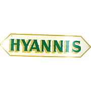 Hyannis Massachusetts Cape Cod Sweet Shop Sign, Large Wood Retro Advertising