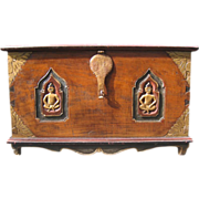 SALE Antique Southeast Asian Dowry Chest