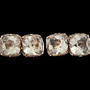On The Cuff:  Georgian Rock Crystal Cufflinks