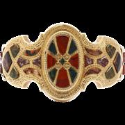 Distinctive Gold and Scottish Agate Bracelet