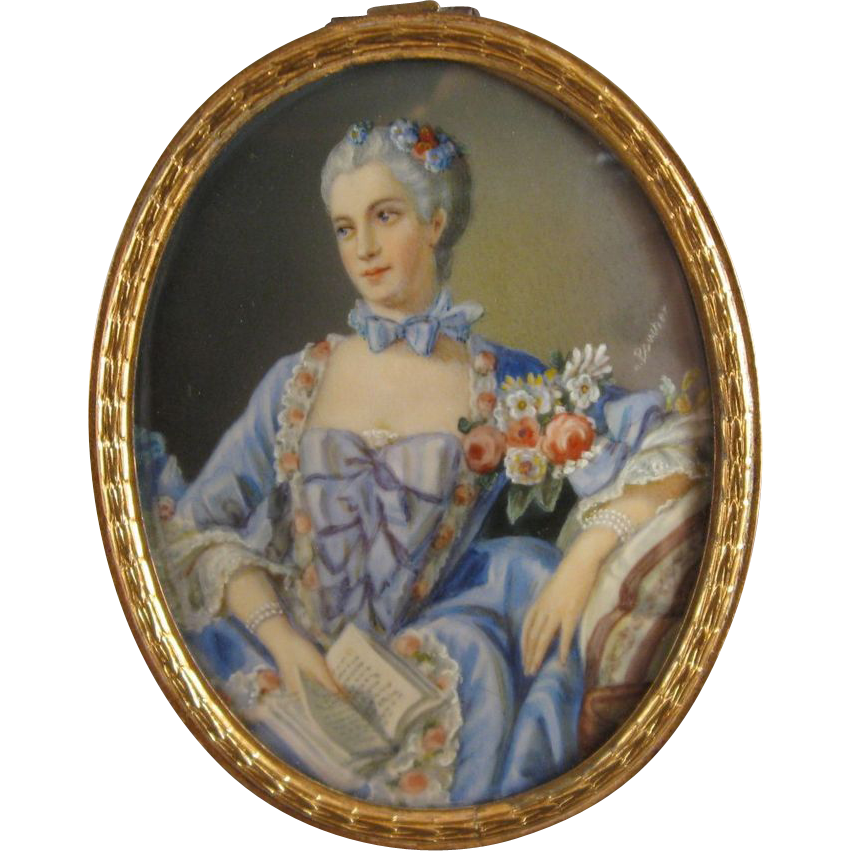 portrait miniature madame pompadour marquise de pompadour from jggallery on ruby