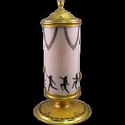 DeVilbiss Perfume Lamp, Silhouette Nude Ladies, C.1924.