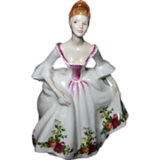 """SALE Royal Doulton Lady Figurine """"COUNTRY ROSE"""" HN 3221"""