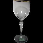 SALE LENOX Crystal MONROE Goblet with Gold Trim