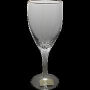 SALE LENOX Crystal ENCORE Goblet with Gold Trim