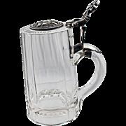 Antique Masonic Glass Stein