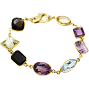SALE 60CT Natural Mutli-Color Gemstones, Citrine, Amethyst, Garnet, Blue Topaz and Smoky Quart