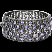 SALE Stunning 45 CT Natural Tanzanite Diamond Bangle Bracelet