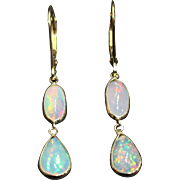 SOLD Handmade Rare Natural Ethiopian Opal 18KT Gold