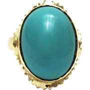 SALE Natural Sleepy Beauty Turquoise Ring in 14KT