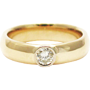SALE Modern Diamond Wedding Band Ring in 14KT Gold