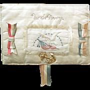 Vintage WWII SILK US NAVY Fold-Over Memorabilia Letter Case; 48 Star Flag Open Pocket ...