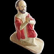 SALE Early 1900's Religious Folk Art Composition/Papier Mache Kneeling Saint