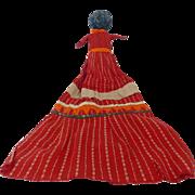 Rare Super Primitive 19th C. Folk Art Stump Doll
