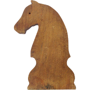 SOLD Late 19th C. Primitive Hand Made Folk Art Horse Head Form Cutting Board