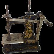 Antique German Tin Toy Sewing Machine 1900