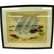 "Alfred Birdsey (1912 - 1996) ""Bermuda Landscape"" watercolor on paper"