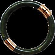 14K Gold and Jade bracelet