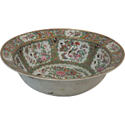 "Chinese Rose Medallion 16""  punch bowl"