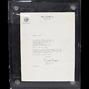 1974 Ronald Reagan letter