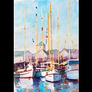 SOLD Petaluma Sailboats by Geri Keary