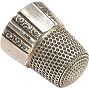 Vintage Sterling Silver Sewing Thimble