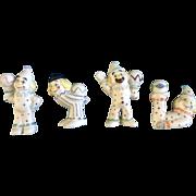 Barb Vickous Clown Miniature Hand Painted Bisque Figurines Colorado Springs Craft Fair Artist