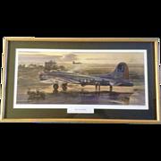 "Merv Corning, B-17G ""Square J's at Farmlingham"" Limited Edition Litho Numbered Print ..."