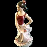 Royal Dux Spanish Dancer Hand Painted Fine Porcelain Figurine 22179 15 83  Marked Czech ...