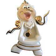 Lenox Cogsworth Right on Time Beauty and the Beast Figurine Walt Disney RARE Discontinued and
