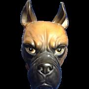 Inarco Head Vase Dog Japan E 1847 Headvase Boxer Vintage Animal Figurine