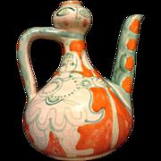 Original 1964 Giovanni De Simone Small Art Pottery Majolica Vase Picasso Style