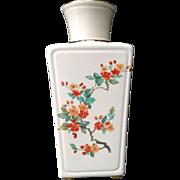 Hyalyn Square Vase North Carolina Pottery Mid-Century Red Apple Blossom #176  Transferware ...