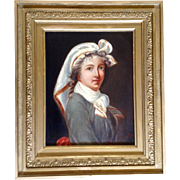 Old Master Portrait of a Lady, Painting Oil on Board, Signed, Monogramed by Artist S ...