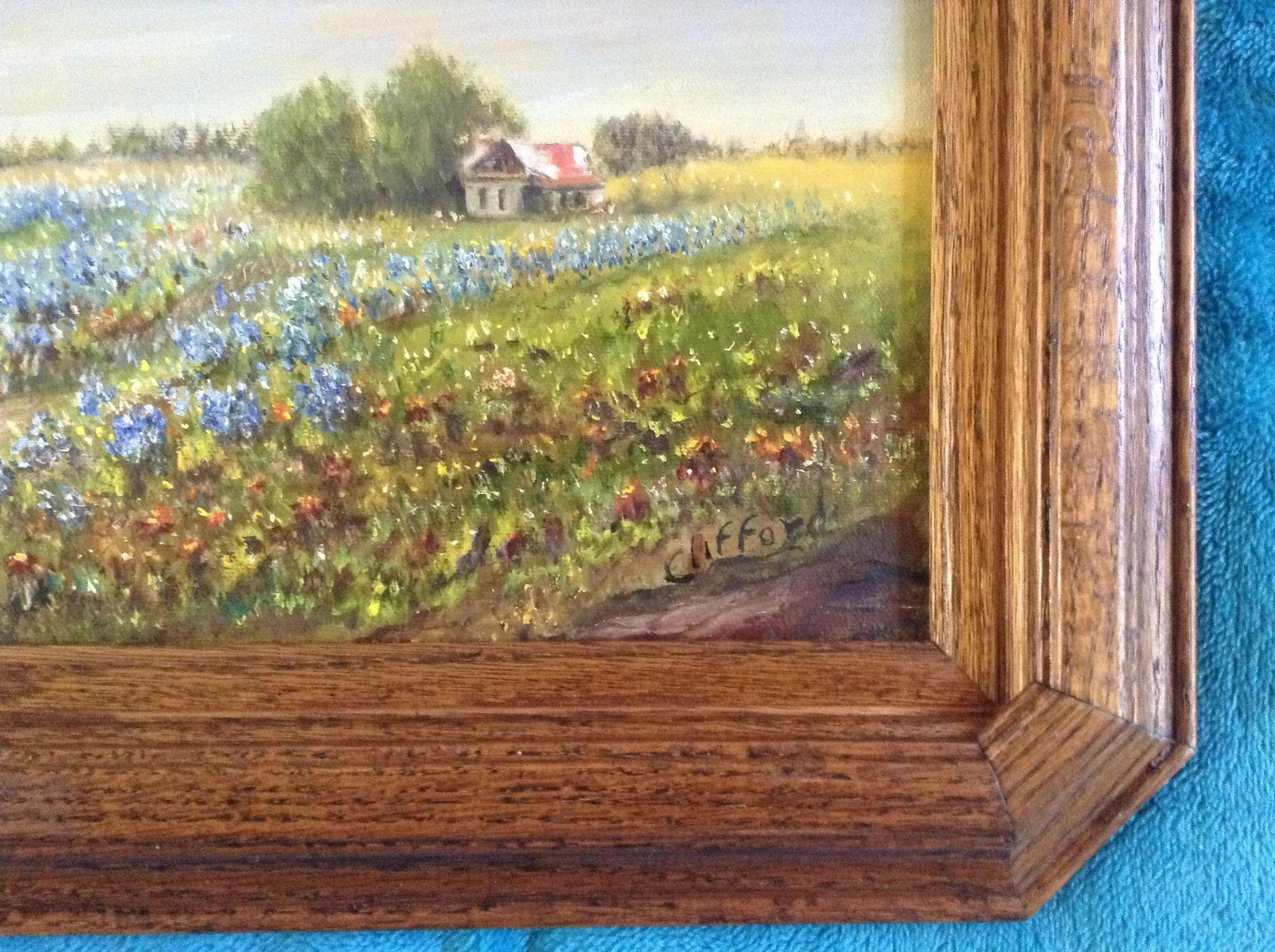 Clifford Bluebonnet Wildflowers On The Old Homestead Texas Painting From Gumgumfuninthesun On